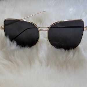 Oversized Gold Frame Sunglasses